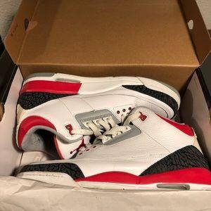 Jordan 3 Fire Red. Size 10.5. With original box!